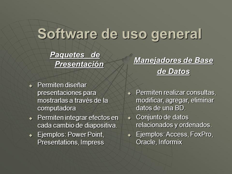 Software de uso general Paquetes de Presentación
