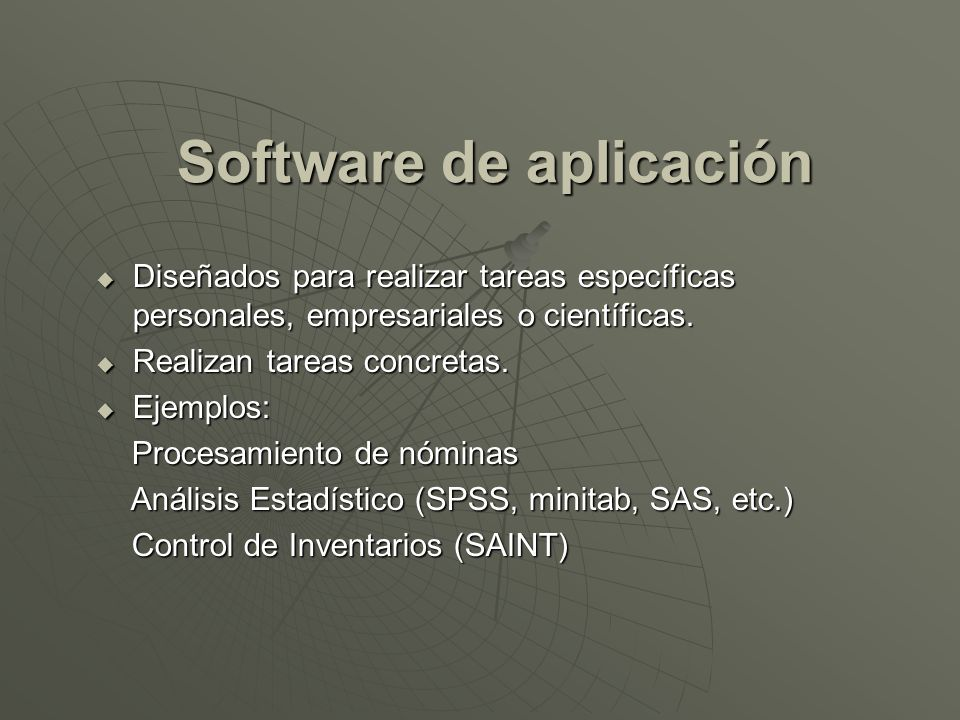 Software de aplicación