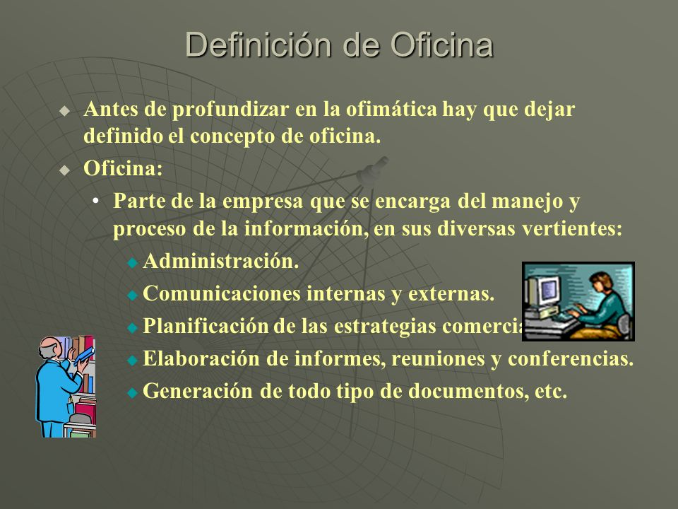Fundamentos de computaci n ppt descargar for Significado de oficina
