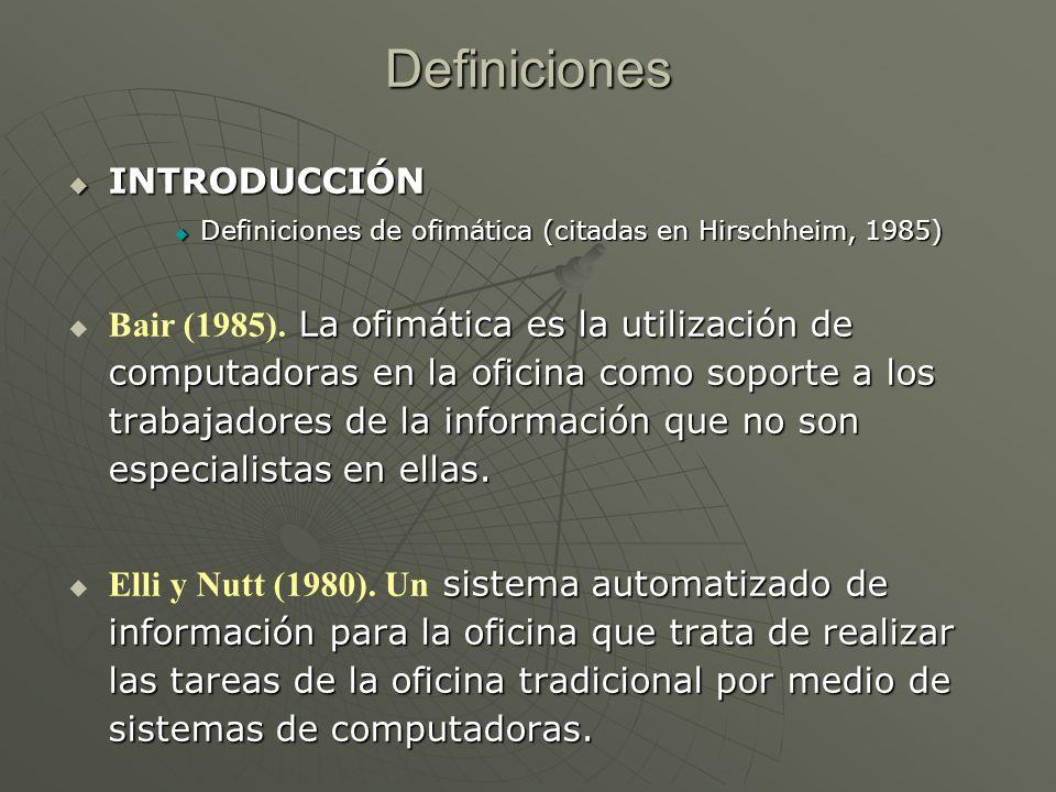 Definiciones INTRODUCCIÓN