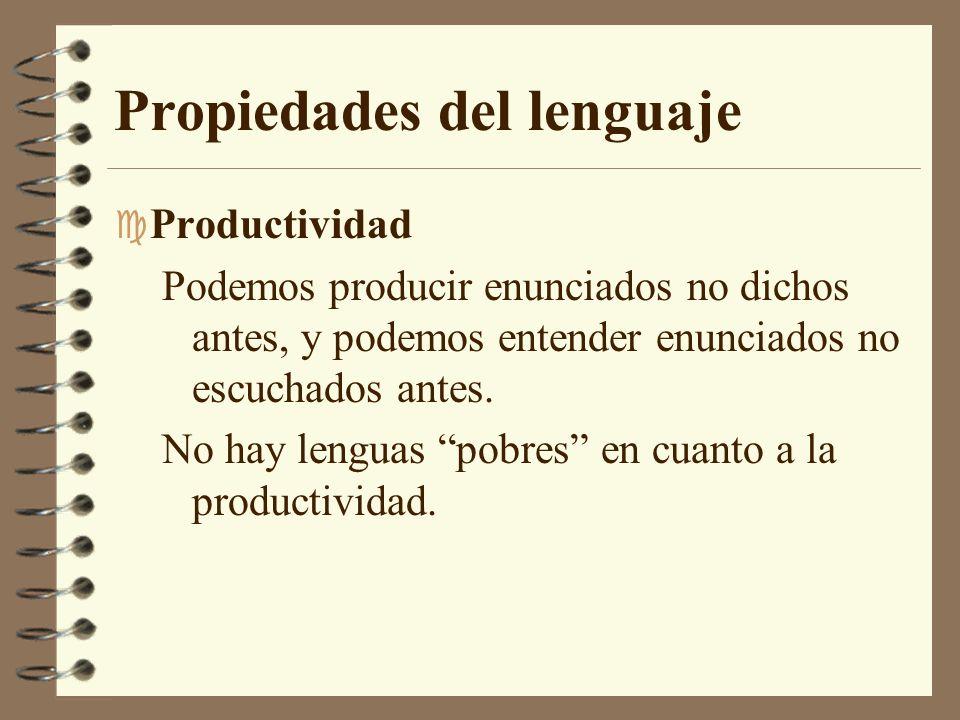 Propiedades del lenguaje