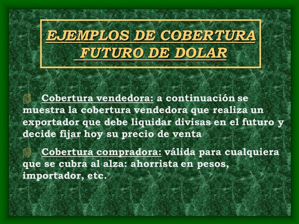 EJEMPLOS DE COBERTURA FUTURO DE DOLAR