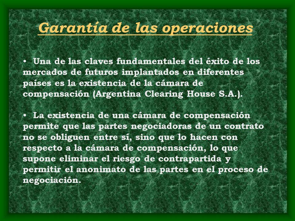 Garantía de las operaciones