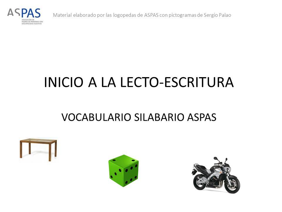 INICIO A LA LECTO-ESCRITURA