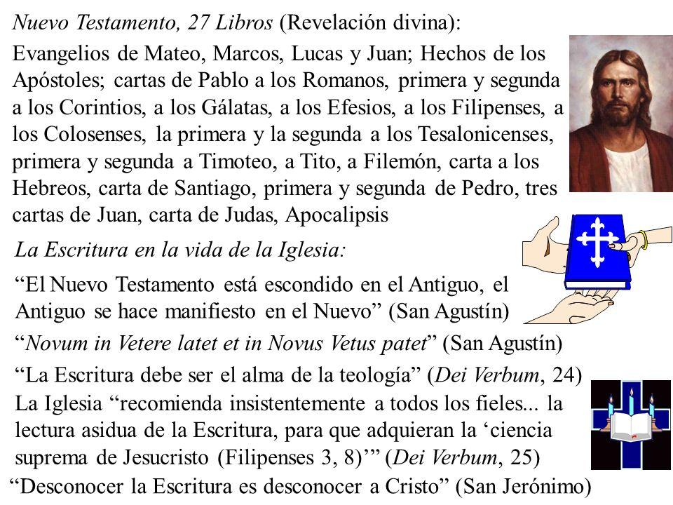 Nuevo Testamento, 27 Libros (Revelación divina):