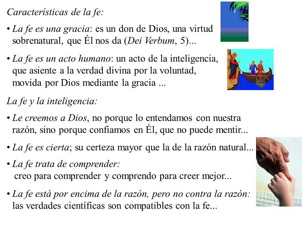 Características de la fe: