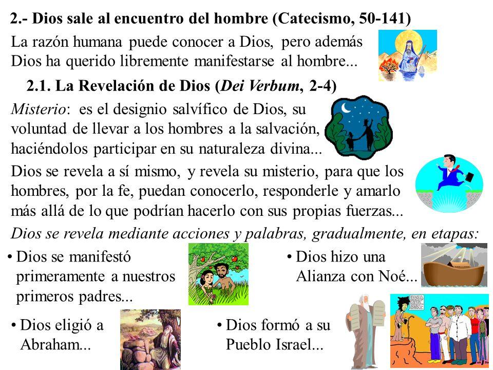 2.- Dios sale al encuentro del hombre (Catecismo, 50-141)