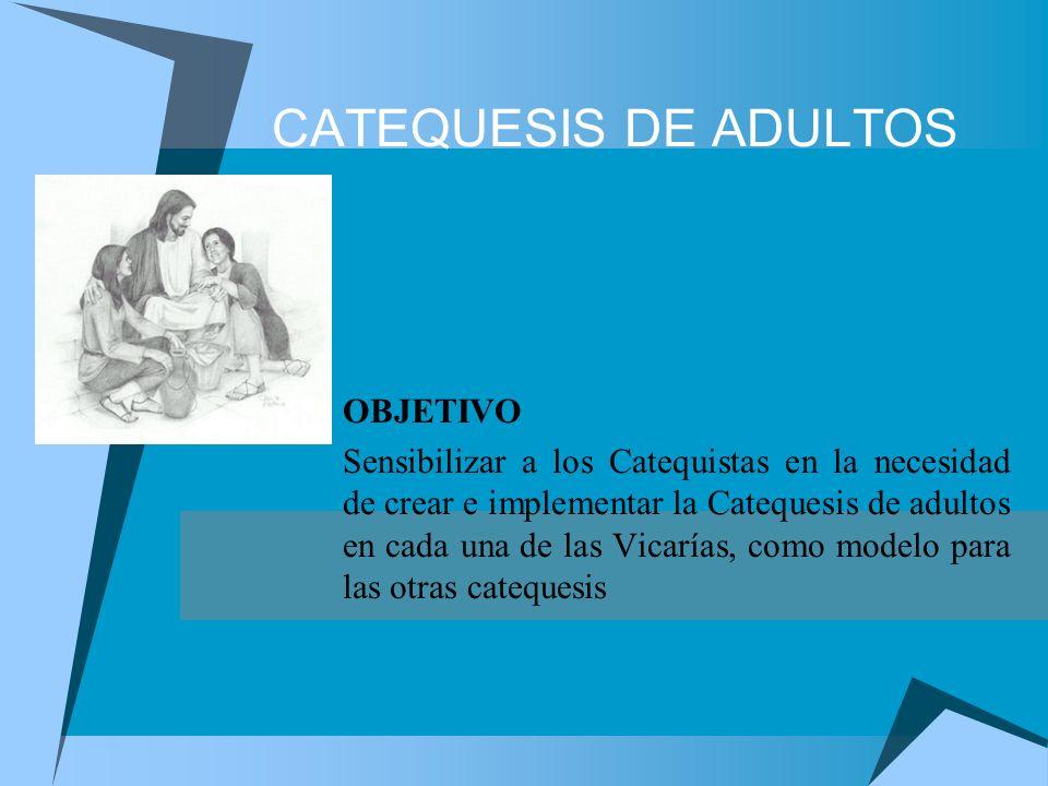 CATEQUESIS DE ADULTOS OBJETIVO