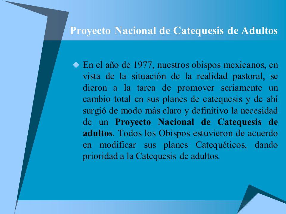 Proyecto Nacional de Catequesis de Adultos