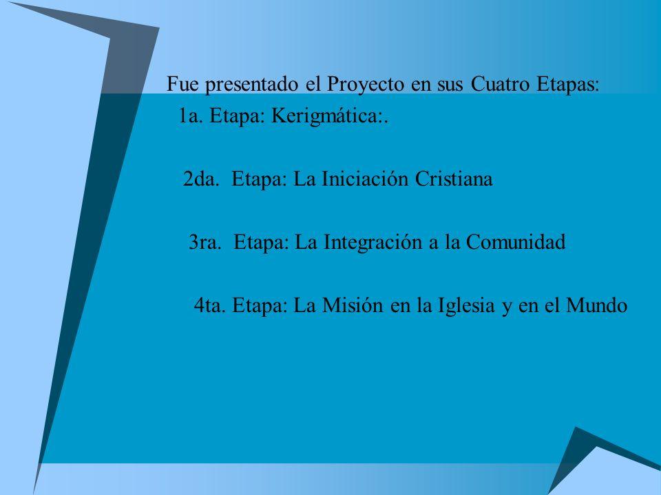 Fue presentado el Proyecto en sus Cuatro Etapas:
