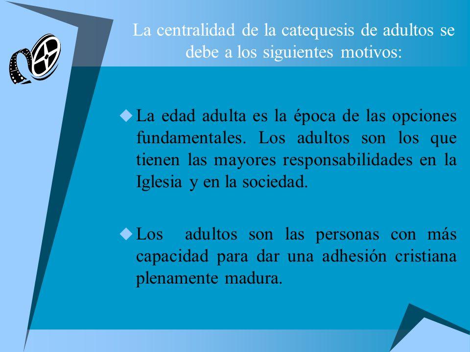 La centralidad de la catequesis de adultos se debe a los siguientes motivos: