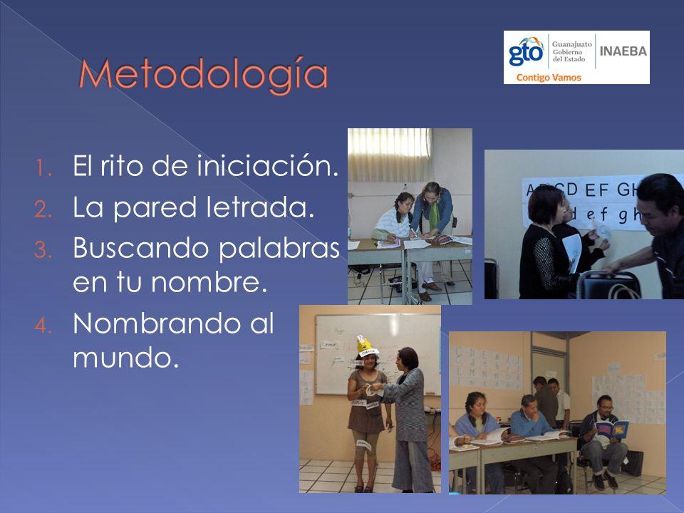 Metodología El rito de iniciación. La pared letrada.