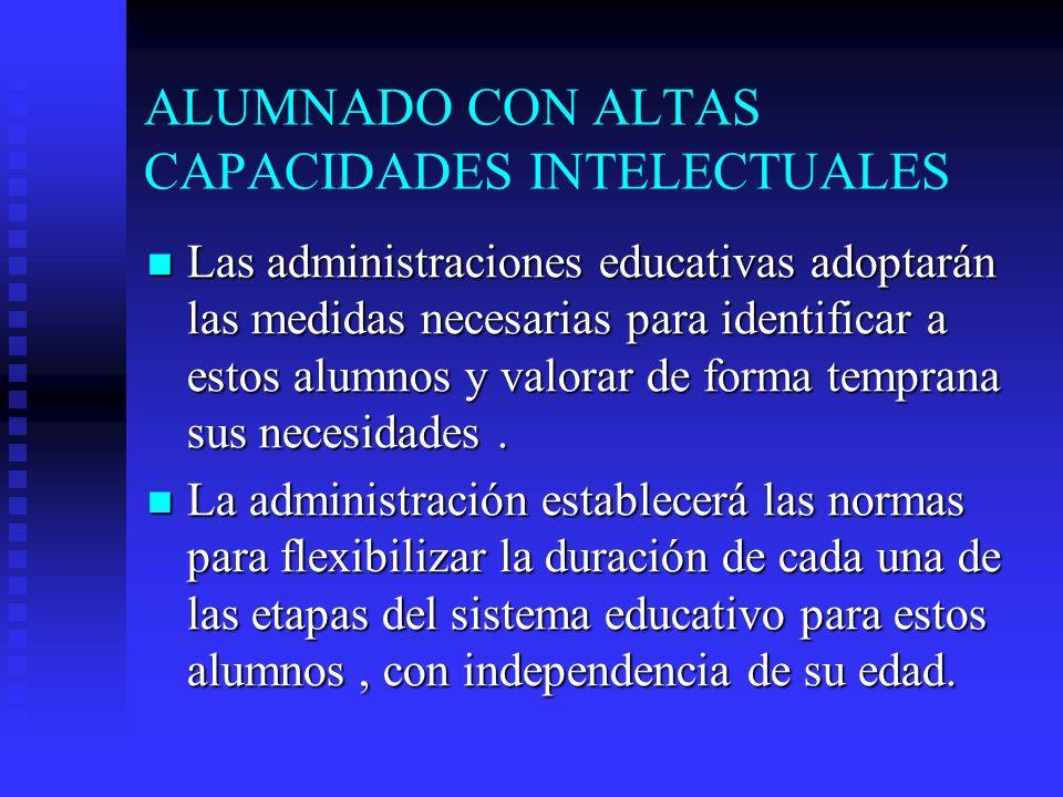 ALUMNADO CON ALTAS CAPACIDADES INTELECTUALES