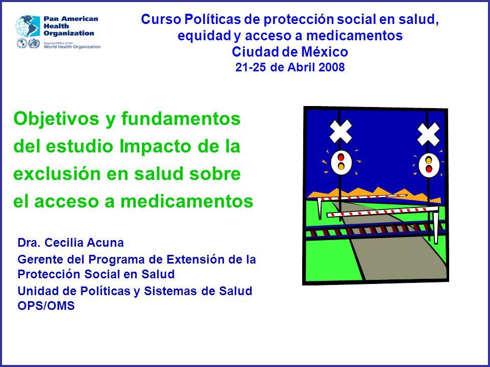 Curso Políticas de protección social en salud, equidad y acceso a medicamentos