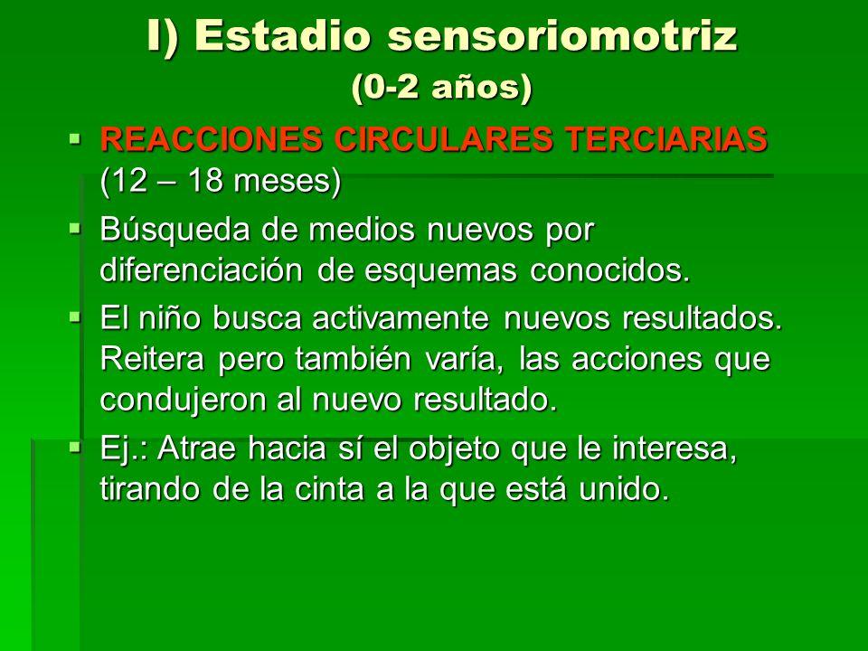 I) Estadio sensoriomotriz (0-2 años)