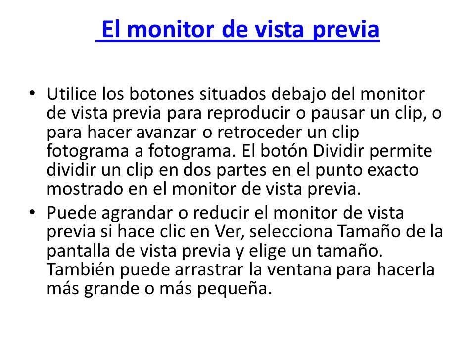El monitor de vista previa