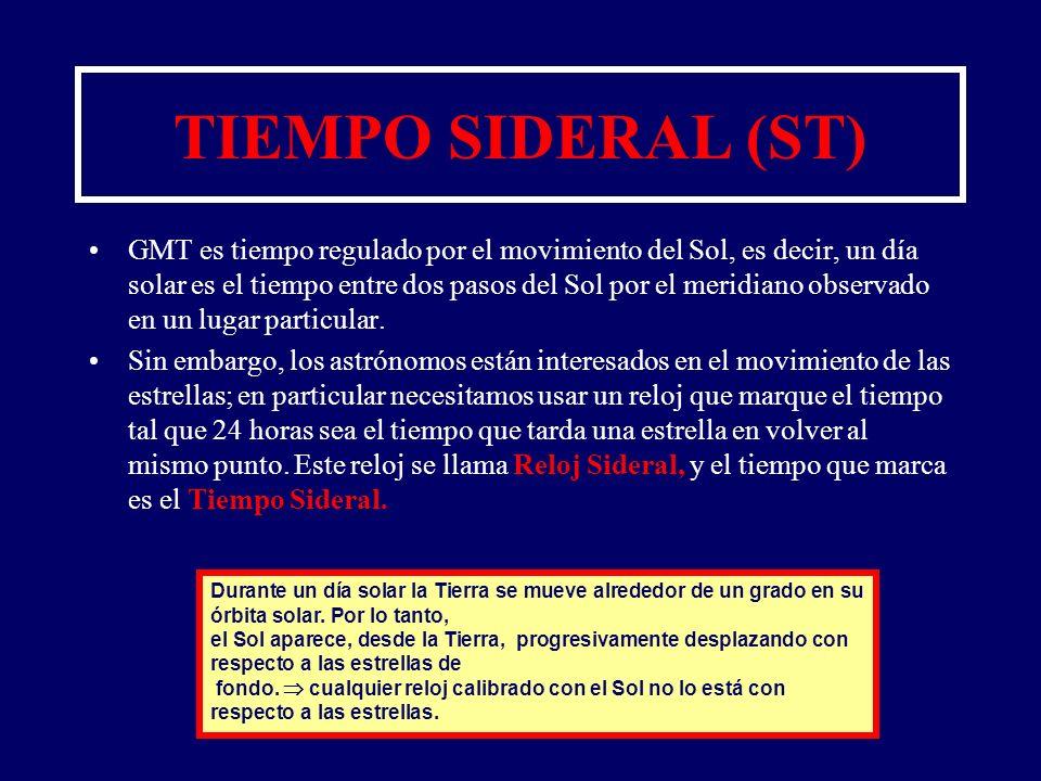 TIEMPO SIDERAL (ST)