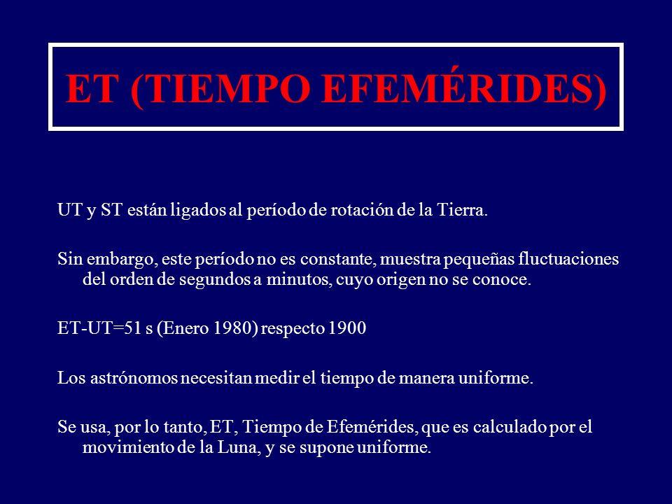 ET (TIEMPO EFEMÉRIDES)