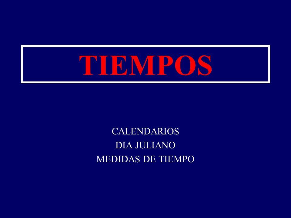 CALENDARIOS DIA JULIANO MEDIDAS DE TIEMPO