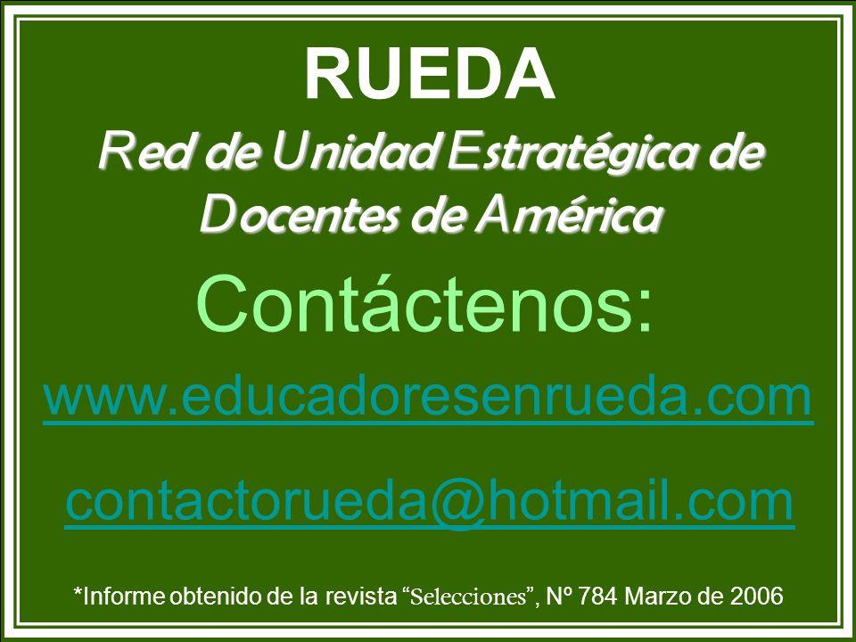 Contáctenos: RUEDA www.educadoresenrueda.com contactorueda@hotmail.com