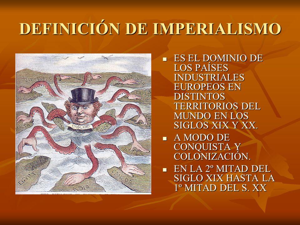 DEFINICIÓN DE IMPERIALISMO