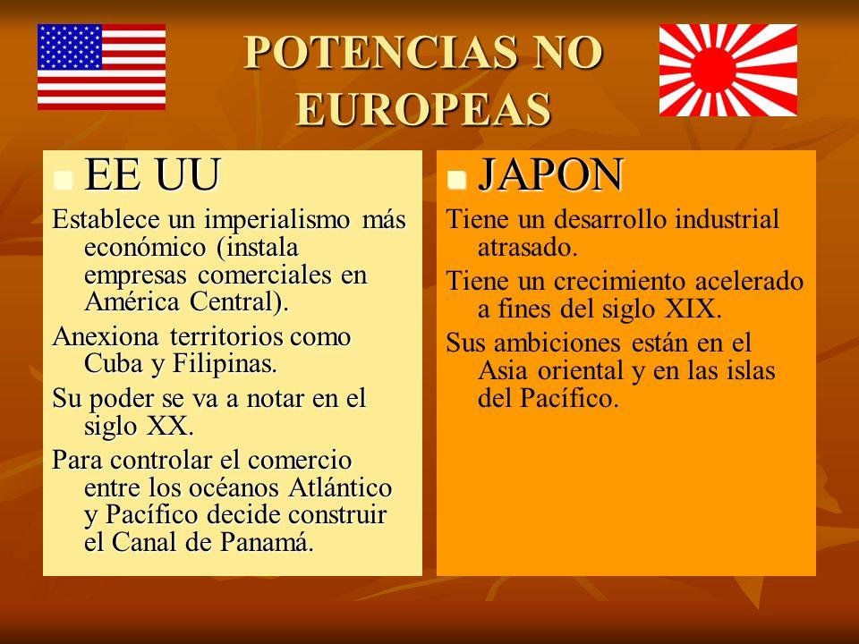 POTENCIAS NO EUROPEAS EE UU JAPON