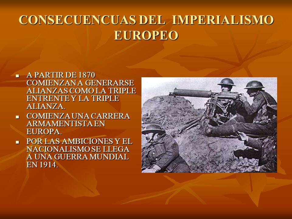 CONSECUENCUAS DEL IMPERIALISMO EUROPEO