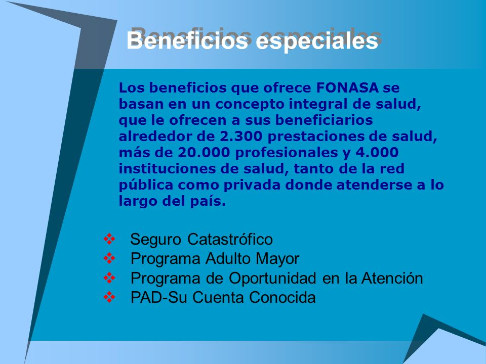 Beneficios especiales