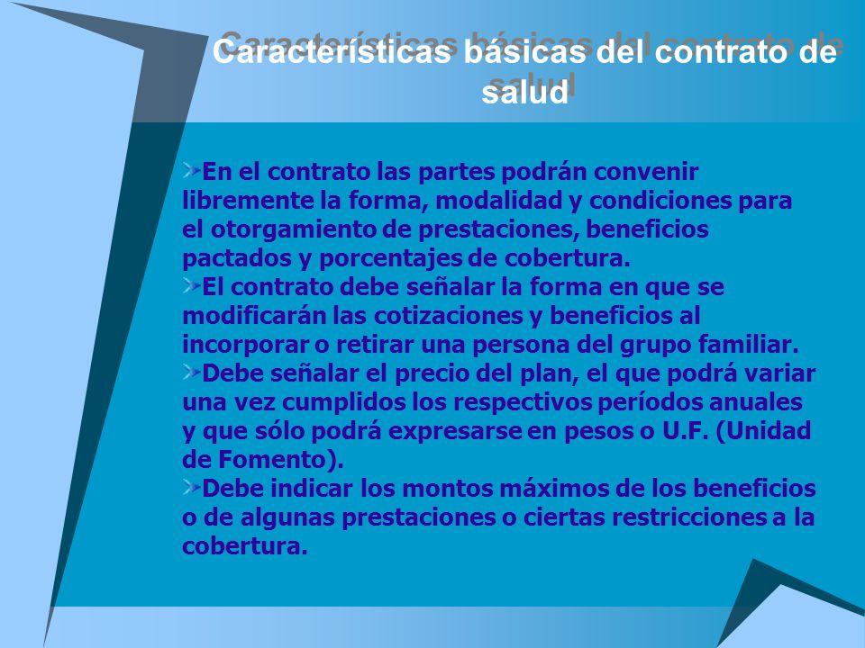 Características básicas del contrato de salud