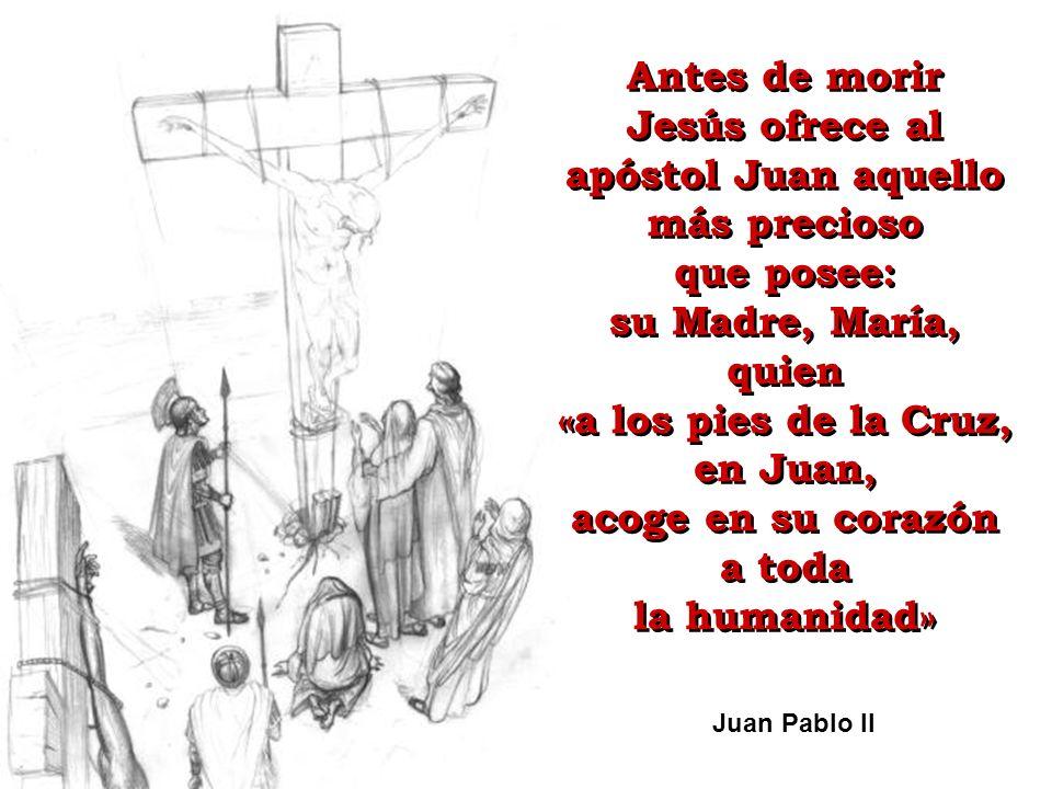Jesús ofrece al apóstol Juan aquello más precioso