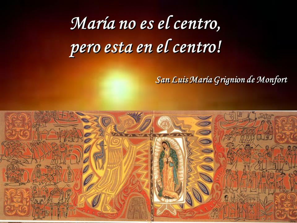 María no es el centro, pero esta en el centro!