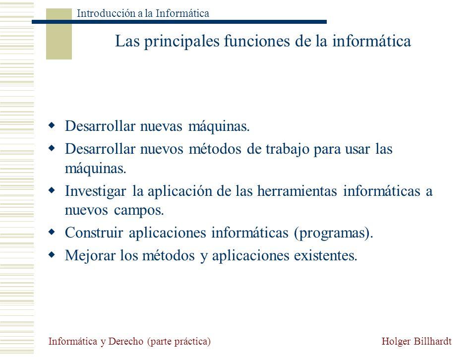 Las principales funciones de la informática