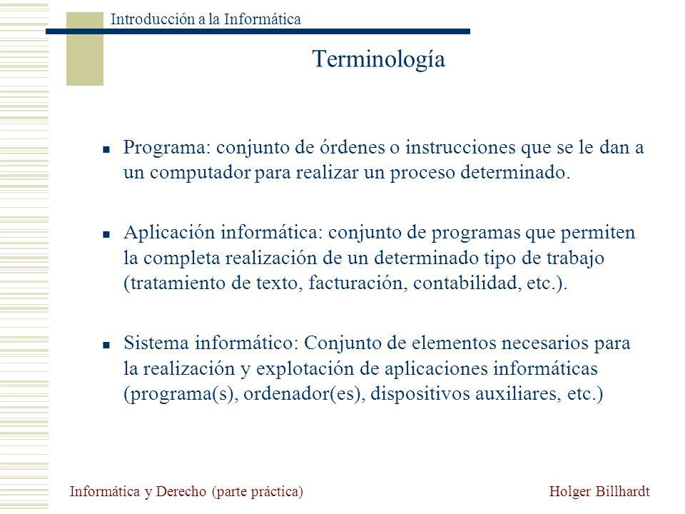 Terminología Programa: conjunto de órdenes o instrucciones que se le dan a un computador para realizar un proceso determinado.
