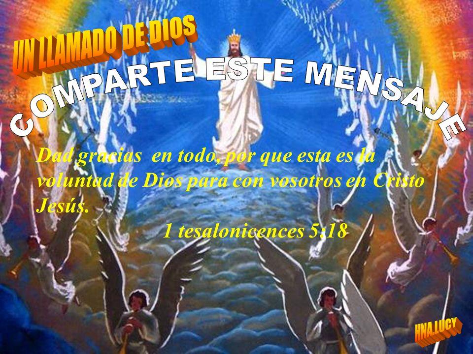 COMPARTE ESTE MENSAJE UN LLAMADO DE DIOS