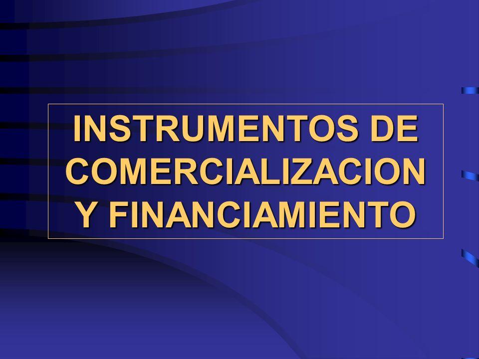 INSTRUMENTOS DE COMERCIALIZACION