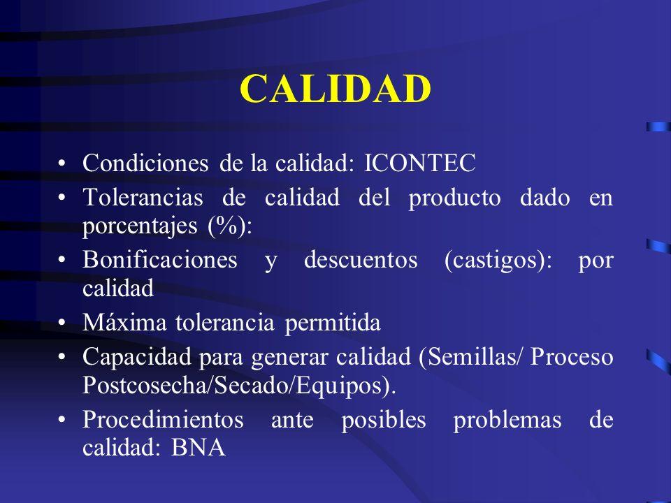 CALIDAD Condiciones de la calidad: ICONTEC