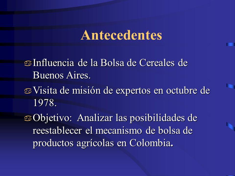 Antecedentes Influencia de la Bolsa de Cereales de Buenos Aires.