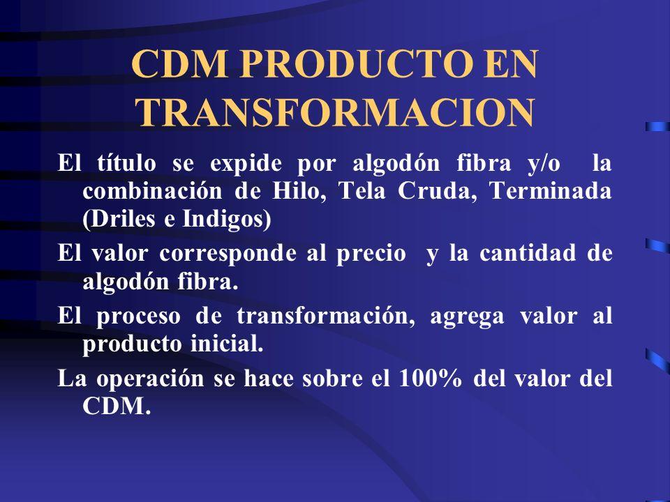 CDM PRODUCTO EN TRANSFORMACION