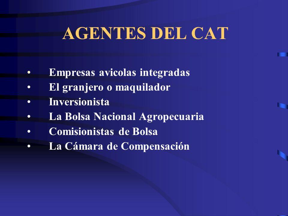 AGENTES DEL CAT Empresas avicolas integradas El granjero o maquilador