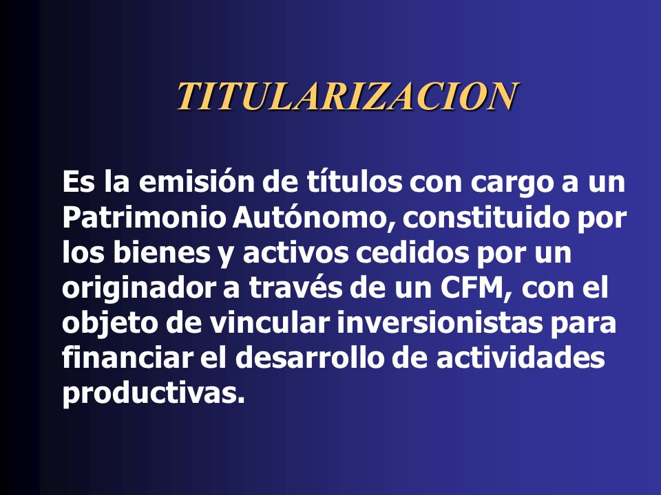 TITULARIZACION