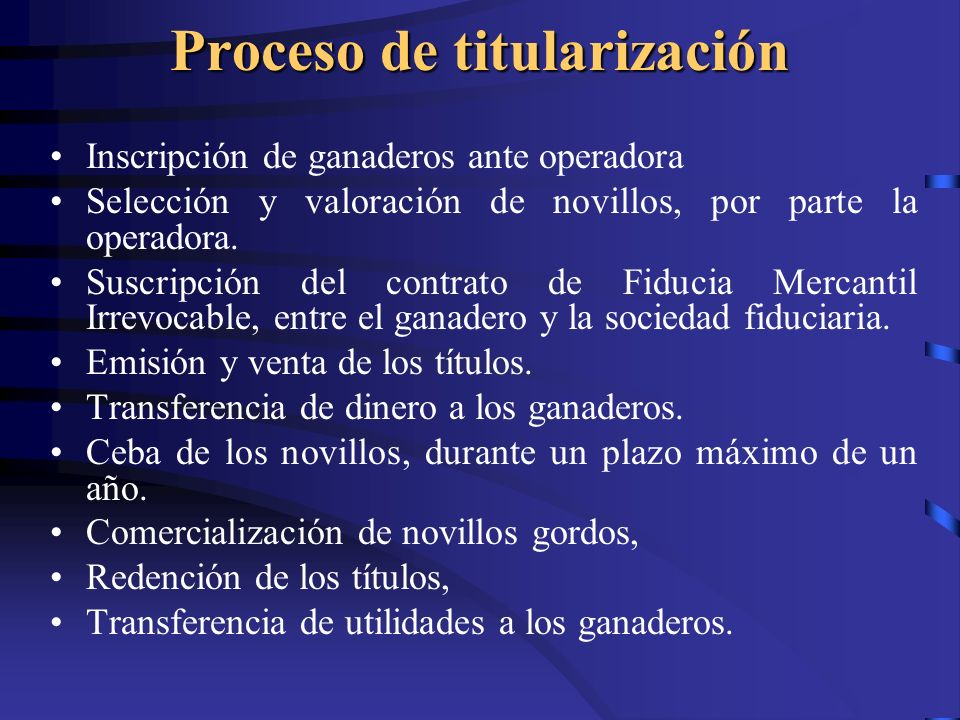 Proceso de titularización