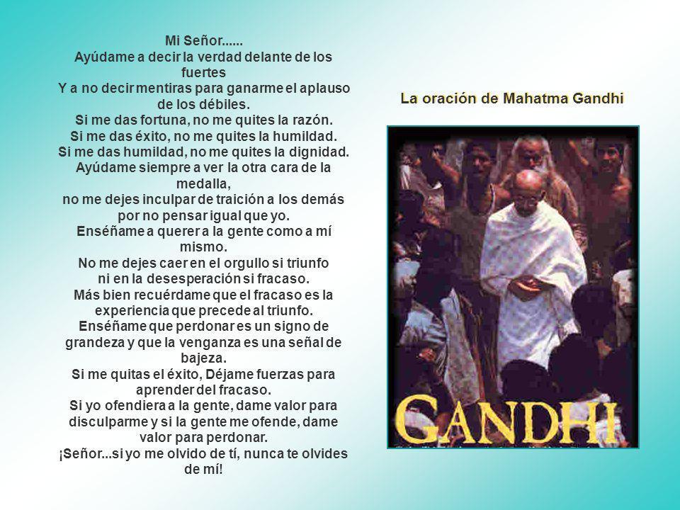 La oración de Mahatma Gandhi