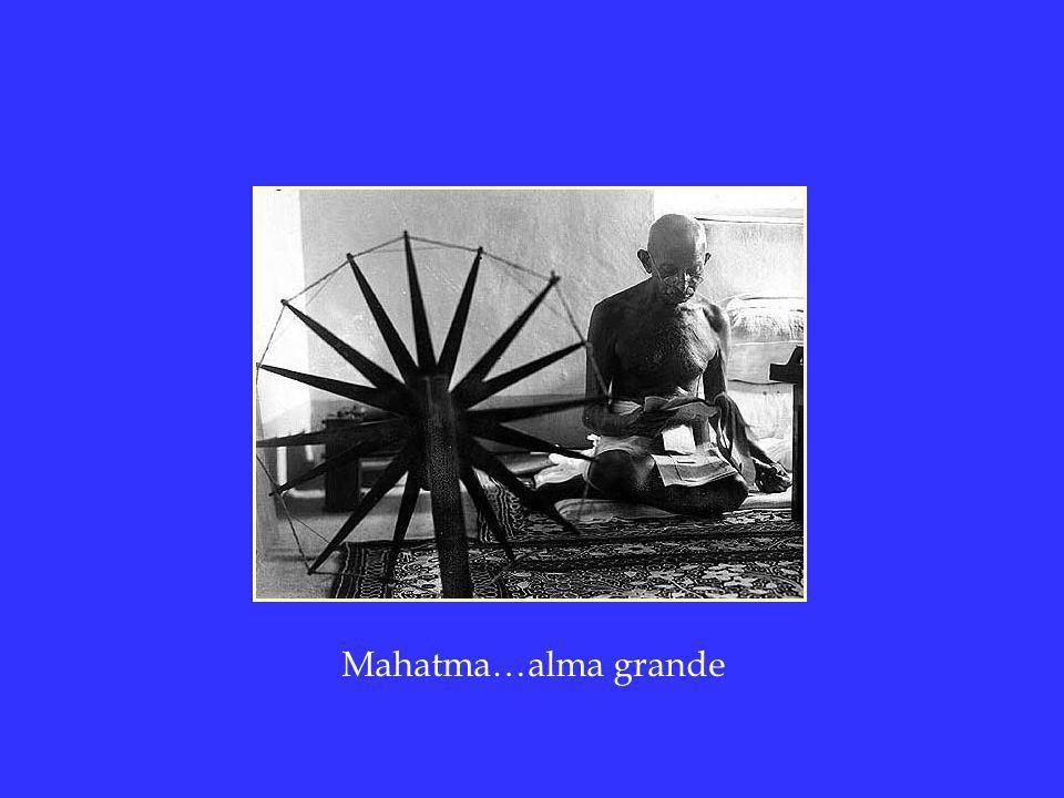 Mahatma…alma grande