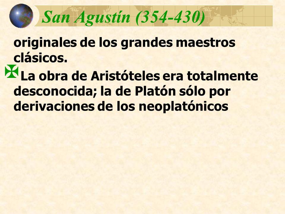 San Agustín (354-430) originales de los grandes maestros clásicos.