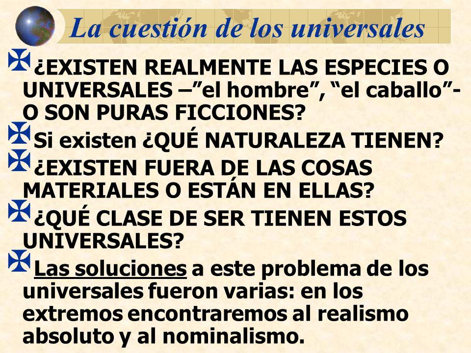 La cuestión de los universales