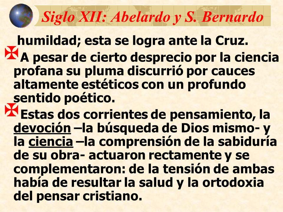 Siglo XII: Abelardo y S. Bernardo