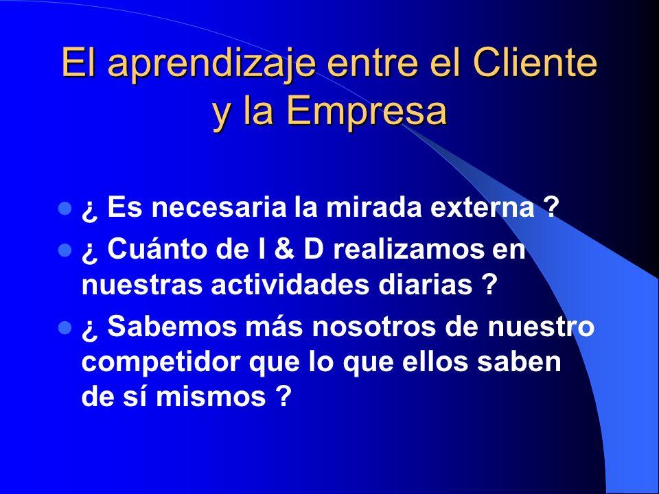 El aprendizaje entre el Cliente y la Empresa