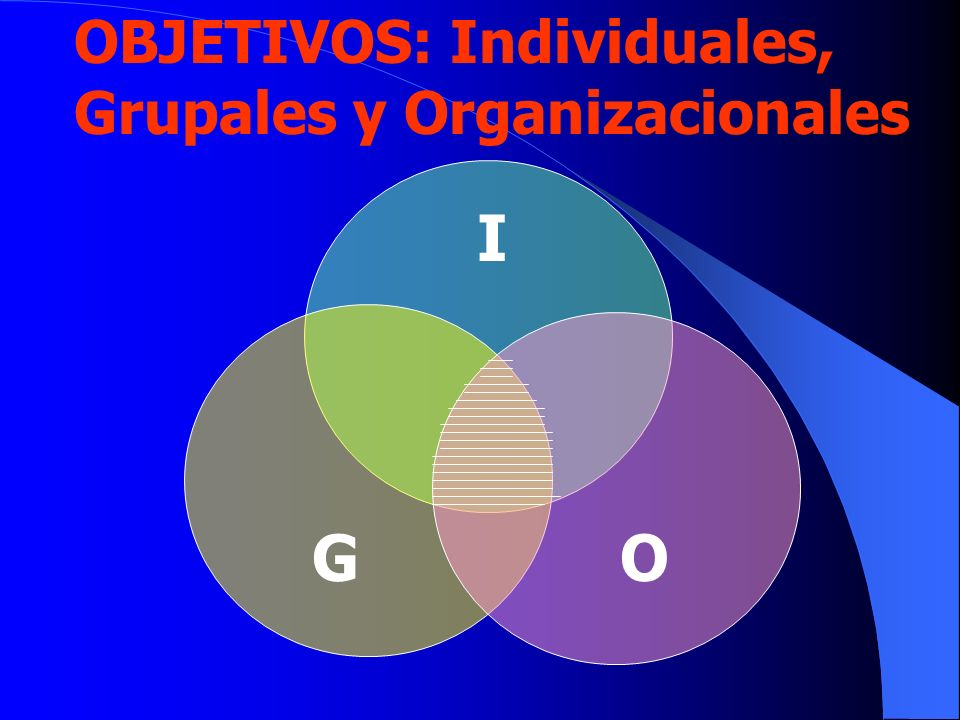 OBJETIVOS: Individuales, Grupales y Organizacionales