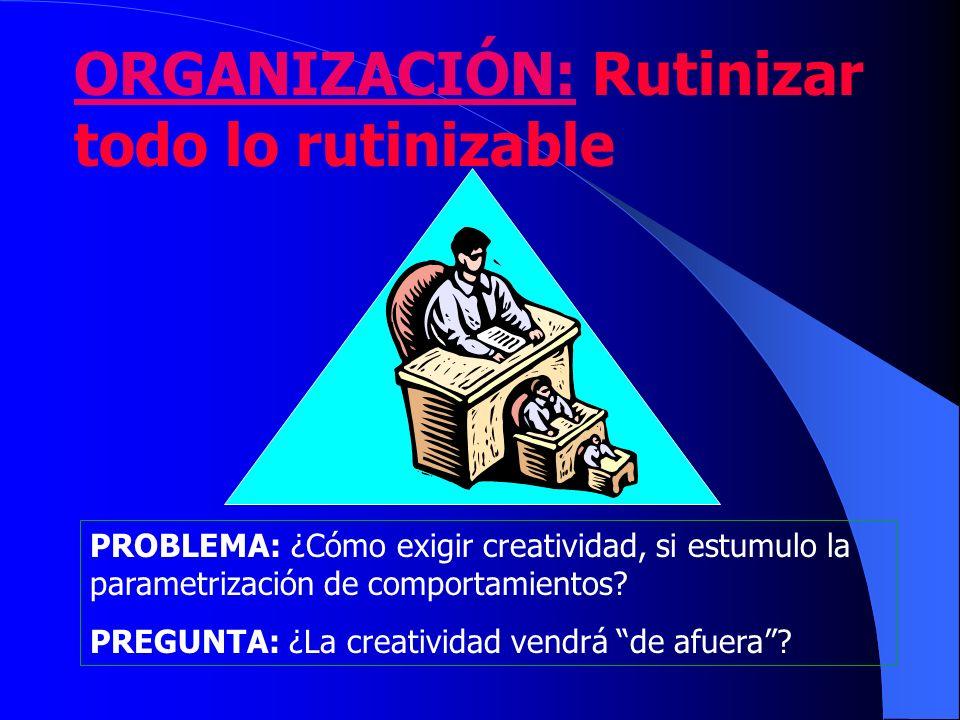 ORGANIZACIÓN: Rutinizar todo lo rutinizable