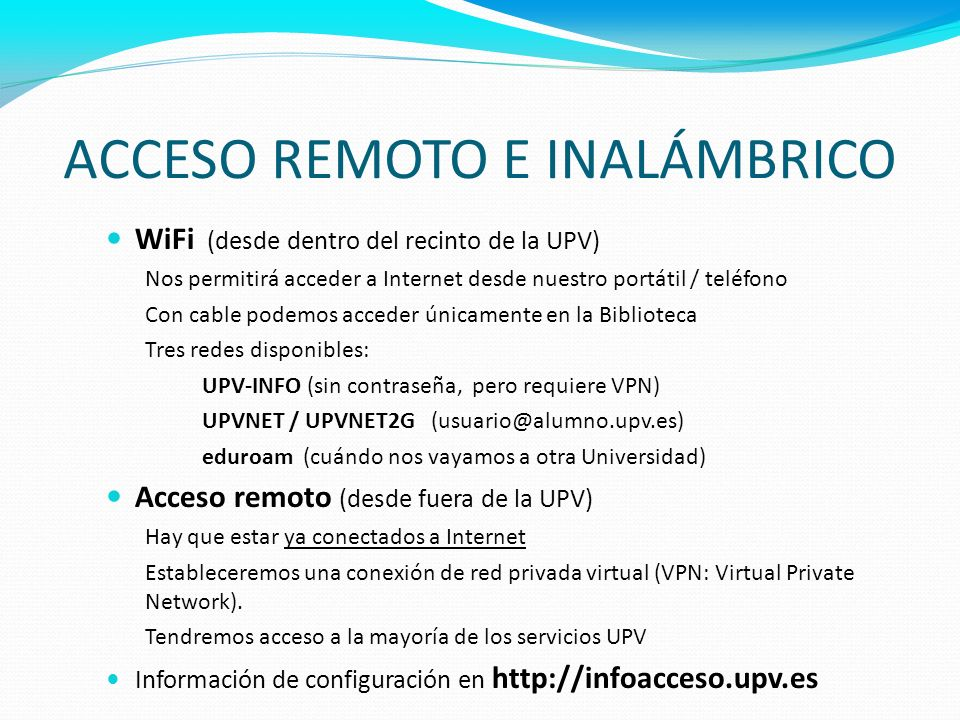 ACCESO REMOTO E INALÁMBRICO
